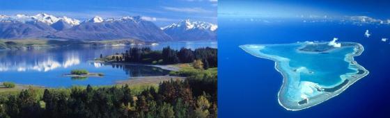 """NOUVELLE ZELANDE et îles Cook """"l'aventure au naturel"""""""