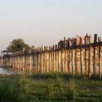 Birmanie - Amarapura - Pont de teck d'U Bein
