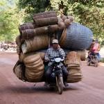 Cambodge - Sambor - Transport de paniers