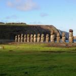 Ile de Pâques - les 15 Moaïs de l'Ahu Tongariki