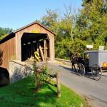 USA - Pennsylvanie - Lancaster - Pont couvert - Amish