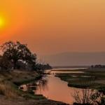 Zimbabwe - Fleuve Zambere - Coucher de soleil